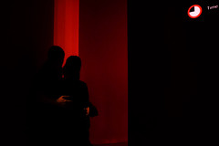 (Kristin Van den Eede) Tags: londen london museumoflondon unitedkingdom uk england museum red color colour shadows silhouette indoor streetphotography candid fuji