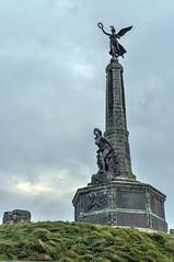 Round Wales Walk 42 - Lusty War Memorial! (Nikki M-F) Tags: walescoastpath ceredigion wales uk aberystwyth warmemorial sculture