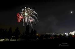 Dibujando en el cielo (Josinisam) Tags: copyright nikond7000 josinisam joseignaciosantamaria valladolid fuegosartificiales fuegosdeartificio fotografosdevalladolid flickr fiestas