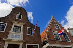 """In de Koestal"" anno 1618 (Johan Konz) Tags: historical houses architecture city edam netherlands outdoor blue sky white clouds buildings nikon d90 landscape windows indekoestal anno1618"