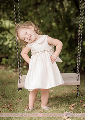 Hailey Marie (Bobby Meade | Photography) Tags: toddler kids children swing dress portrait smile backyard summer nikon d7100