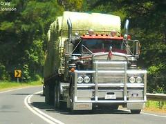 photo by secret squirrel (secret squirrel6) Tags: secretsquirrel6truckphotos craigjohnsontruckphotos kenworth steep stoitsetransport southgippslandhighway wmodelkenworth gippsland trucking load hay straw
