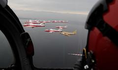 Snowbirds (aeroman3) Tags: comoxvalley snowbirds formation flying airforce tutor aircraft ct114 aerials airdemonstration sabre hawkone robertbottrill acaf f86 comox bc canada