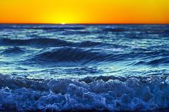 Breathe... (petrapetruta) Tags: orange blue sunset sea wave mediterranean sonya7