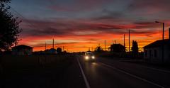 Atardecer en la Carretera (chuscordeiro) Tags: cielo sky atardecer sunset galicia espaa color coche canon 1dxmarkii 1635f4 carretera luces turismo caminodesantiago corua boente