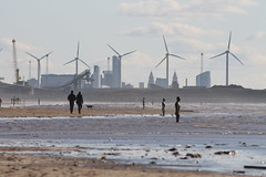 Liverpool from Crosby (smile-a-while) Tags: beach statue liverpool docks walk gormley crosby anotherplace