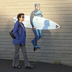 5706 Corner Store Surfer (eyepiphany) Tags: board surfboard oregoncoast juxtaposition manzanita lightandshade manzanitabeach manzanitaoregon surfculture surfmural