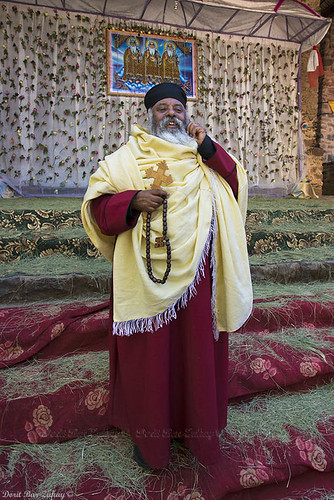 Debra Berhan Selassie Church, Ethiopia - the priest and the cellphone