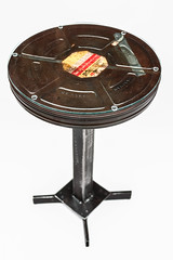 "Large Film Canister Side Table with Glass Top • <a style=""font-size:0.8em;"" href=""http://www.flickr.com/photos/80301931@N08/8466286689/"" target=""_blank"">View on Flickr</a>"