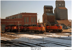 BNSF Diesel Shops (Robert W. Thomson) Tags: railroad train montana diesel railway trains havre locomotive trainengine ge bnsf dash944cw burlingtonnorthernsantafe dash9 es44dc gevo c449w es44ac es44 evolutionseries sixaxle