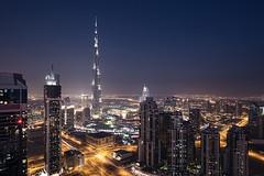 Beautiful Dubai #6 (momentaryawe.com) Tags: streets glass buildings concrete lights evening dubai skyscrapers dusk uae middleeast bluehour unitedarabemirates catalinmarin momentaryawecom burjkhalifa