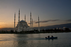 Sunset (paza140) Tags: sunset lake turkey river mosque national adana geographic sabanci seyhan paza140