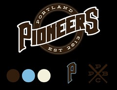 Wordmark_v2 (Sean Bucknam) Tags: portland baseball pioneers branding wordmark