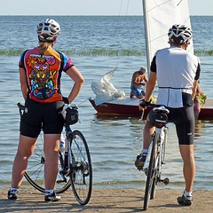 Summer Love (FrogBum) Tags: summer woman beach bike bicycle michigan damsel macombcounty huronclintonmetroparks harrisontwp metrobeachpark lakestclairmetropark