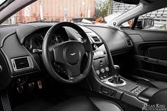 Aston Martin Vantage (Dylan King Photography) Tags: canada black vancouver lights am nikon bc martin interior side rear wheels columbia headlights front grill chrome british rims v8 aston vantage d90 amv8 autoform 18105mm autoformcoca