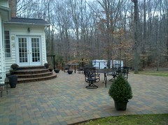 After - Rear patio and steps (The Sharper Cut Landscapes) Tags: landscaping steps maryland patio paver charlescounty landscapedesign porttobacco bullnose entertainmentarea londoncobble landscapecompany belgardhardscapes