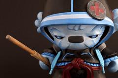 Kisho the Urban Medic Ninja (roarwithlukas) Tags: kidrobot vinyltoy munny customtoy artwhino munnyworld artwithoutborders