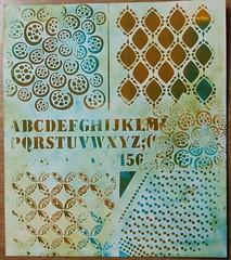 monoprint 1 bis (Chantal 61) Tags: stencils monoprint glatine peintureacrylique balzerdesign distressbrokenchina