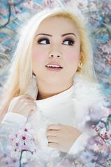 Winter Into Spring (Ame Otoko) Tags: winter portrait floral beauty female photoshop asian spring model nikon blossom plum vsco toddfongcom