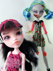 Brains... (nonaptime) Tags: ooak repaint customdoll ghoulia monsterhigh draculaura nefara