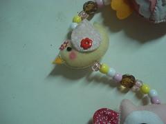 Detalhe do Passarinho do mbile de cortina da Julia (tatiane_zoo) Tags: beb feltro patchwork corujas tecido