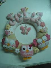 Guirlanda Julia. (tatiane_zoo) Tags: bebê feltro patchwork corujas tecido