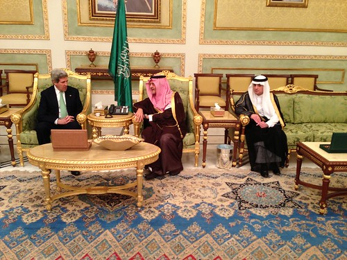 Secretary Kerry Meets With Saudi Foreign Minister Saud Al-Faisal and Ambassador al-Jubeir