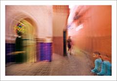 The tomb (Roberto Polillo (impressions)) Tags: longexposure blur color colour art canon photo tomb morocco motionblur maroc marocco marrakech medina orientalism icm lightpaintings polillo sidiabdelaziz intentionalcameramovement robertopolillo