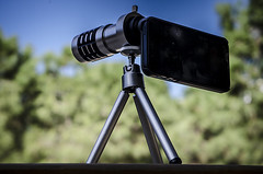 A review about 12x telescope, by USB Fever. (fernandoprats) Tags: barcelona park parque lens tripod mini ring telescope telephoto manual parc reviews iphone objetivo telescopio prats 12x reseas fernandoprats usbfever