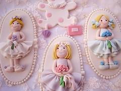 Flower Girl Plaque Cake Topper (Jiji's Sugar Art) Tags: cake shower bridal topper