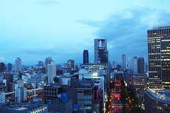 Cityscape, Osaka, Japan (Luke,Ma) Tags: street city building japan skyline night digital ed four view shot traffic olympus m micro   ez osaka ba  prefecture kansai  shi sai umeda shinsaibashi hankyu midosuji 43 omd shin mitsukoshi thirds   isetan      m43   greatphotographers   mzd f4056 osakashi em5 osakafu  flickraward dtonbori bashisuji 918mm mzuiko m918 photographyforrecreation flickrtravelaward ezm918