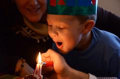 Sento (P. Sawyer) Tags: birthday fire kid candle child no celebration editing