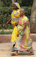 Ladies Walking (cowyeow) Tags: street travel ladies portrait people india yellow lady walking clothing women candid indian taj mahal tajmahal agra oldladies strolling thetaj uttarpradesh badteeth indianclothing