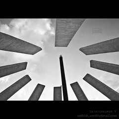 MGR Memorial (Sathish_Photography) Tags: india white black beach marina photography memorial weekend photowalk chennai tamilnadu sathish mgr cwc clickers mgramachandran