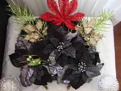 Arranjo de natal para mesa com flres (Tia Corrocher) Tags: natal mesa flres arranjo