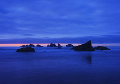 Bandon Blue... (jonathon mcclain) Tags: sunset sea oregon coast stack