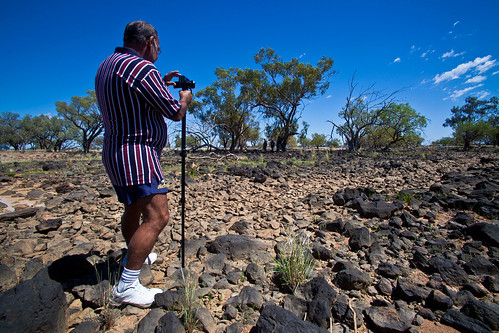Indigenous Elders Recording Fish Traps Near Quilpie QLD Australia