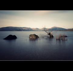 Milarochy Bay...Without the tree! (Samantha Nicol Art Photography) Tags: trees snow art water bay scotland rocks long exposure slow hills samantha submerged nicol balmaha millarochy milarochy