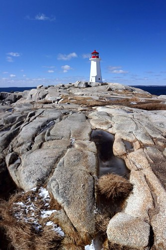 Forced Perspective - Vertical Panorama at Peggys Cove