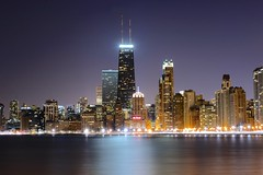 Chicago Winter Chill (Jamie McCaffrey) Tags: usa chicago building tower beach weather skyline night evening nikon long exposure cityscape view north clear hancock avenue 28300 duration d600 weathe
