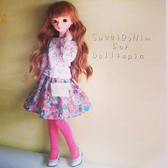 MSD dress set for Dolltopia #bjd #sweetbynim #msd #dolltopia #bluefairy (Sweet-by-Nim) Tags: square squareformat mayfair iphoneography instagramapp uploaded:by=instagram