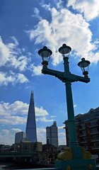 The Shard from Southwark Bridge (Dunc(an)) Tags: bridge sky london lamp thames clouds shard southwark bankside se1 southwarkbridge shardofglass theshard