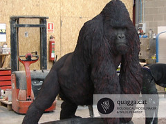 Gorilla (Quagga Associats) Tags: justin sculpture black public glass valencia acdc fire model eyes paint artist with gorilla very outdoor metallic wildlife double structure metallica layer and beatles polyester to areas resin perry ketty internal silicone conditions in plasticine moulded modelmaker quagga retardant resistant hyperrealist beringei bioparc ramonlopez bibier