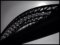 Tyne (marchantvii) Tags: road bridge sky sun white black newcastle steel tyne gateshead upon irin tybe wgite uploaded:by=flickrmobile flickriosapp:filter=nofilter