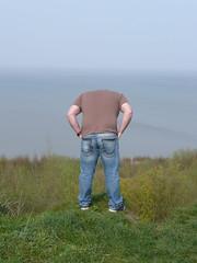 Air Over Heels (boro.boro) Tags: uk sea portrait green headless self kent bokeh greenery leysdown sheerness headlessself