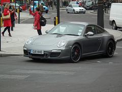Porsche (kenjonbro) Tags: uk england london westminster grey 911 trafalgarsquare porsche charingcross sw1 2011 worldcars kenjonbro fujifilmfinepixhs10 gu11hho
