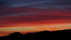 Red and green sunset (jimsc) Tags: sunset red arizona cloud skyscape spring desert sundown tucson april braids eveningsky sonorandesert braided endofday skycolors westernsky pimacounty jimsc canonsx130 eveningskyshow