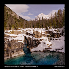 The Natural Bridge with Mt. Stephen, Yoho National Park, British Columbia (kgogrady) Tags: park bridge trees horse mountain snow canada mountains west color colour tree green ice water pool rock clouds landscape rockies frozen spring nikon skies afternoon mt bc natural britishcolumbia rocky noone peak sunny bluesky nopeople canadian boulder naturalbridge mount national western rockymountains peaks nikkor fx kicking yoho parkscanada yohonationalpark flowingwater kickinghorseriver mtstephen 2013 mountstephen cans2s calgarypubliclibraryphotographyclub d800e