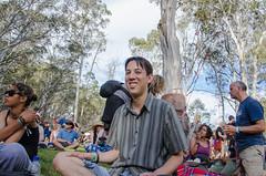 Anthony in the Lotus Position (nikabuz) Tags: festival arts australia anthony handheld act corin take2 sango namadginationalpark brindabellamountains corinbank nikond7000 nikkor18105mmlens corinbank2012 corinbankfestival2012 anthonyurbancik