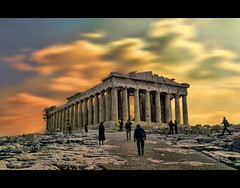 If we don't change our direction we're likely to end up where we're headed (Wim Koopman) Tags: winter light sky people mountain snow building walking photography foot photo ancient different path surrealism hill stock dramatic surreal philosophy athens greece directions civilization glowing flowing wandering stockphoto stockphotography akropolis wpk